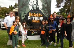 Join the spooks visiting Greythorn's Halloween event